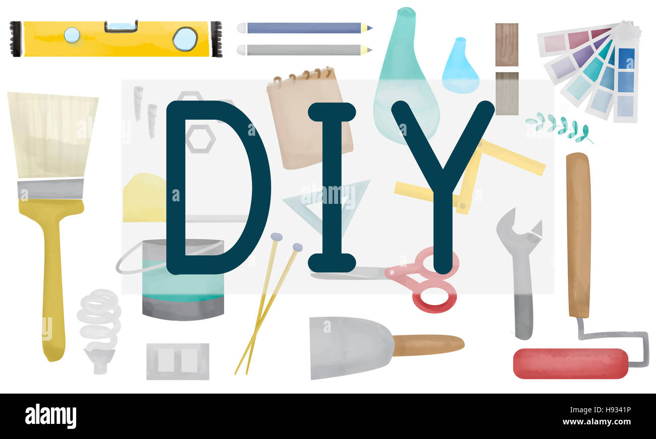 Do It Yourself Project Graphics Concept - Stock Image