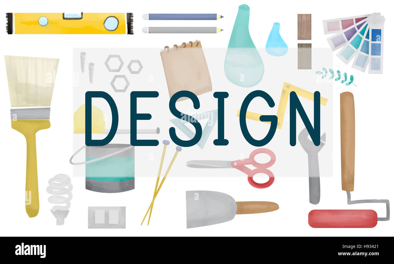 Design Creative Draft Drawing Model Objective Concept - Stock Image