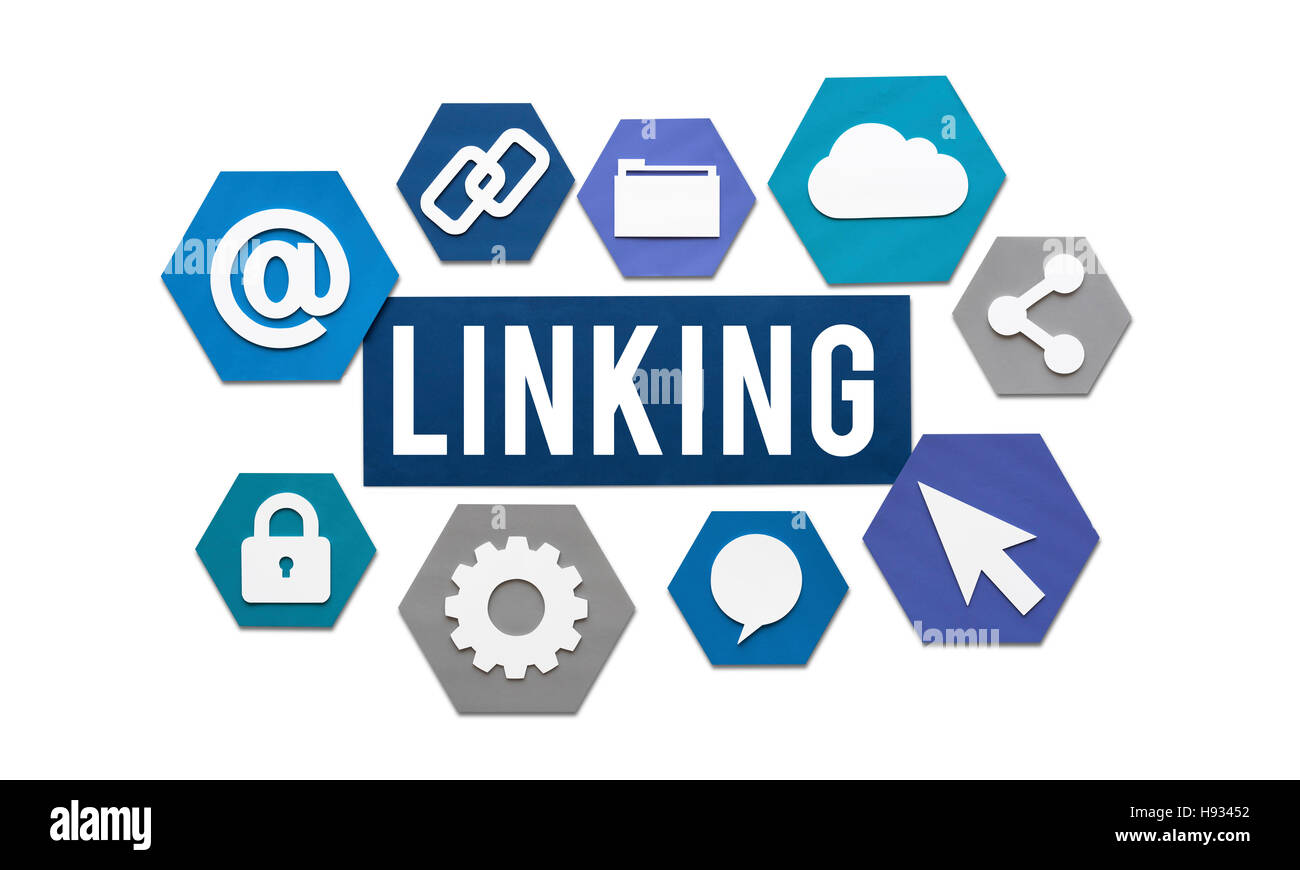 Linking Internet Connection Website Concept Stock Photo