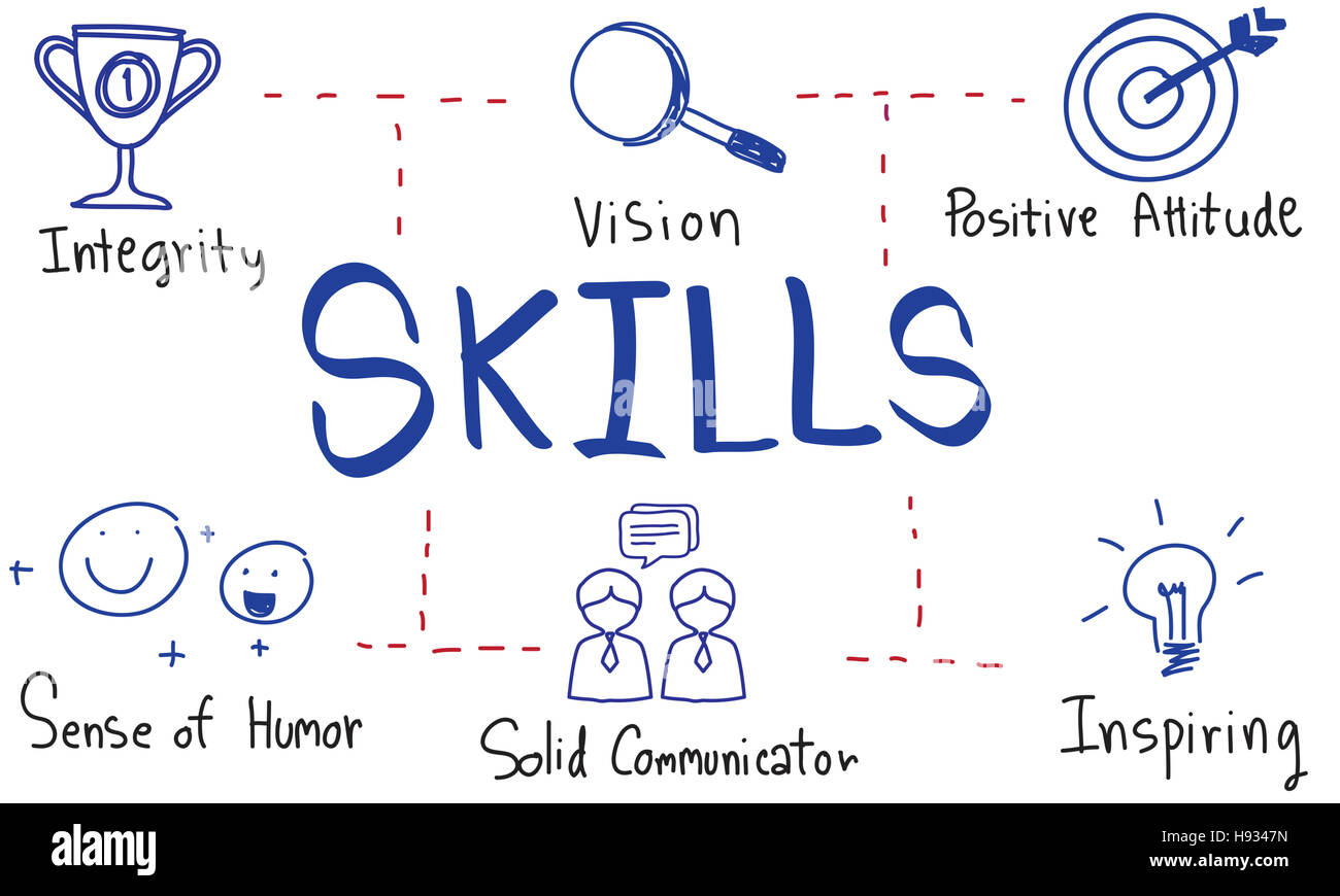 Leadership Success Skills Drawing Graphic Concept - Stock Image
