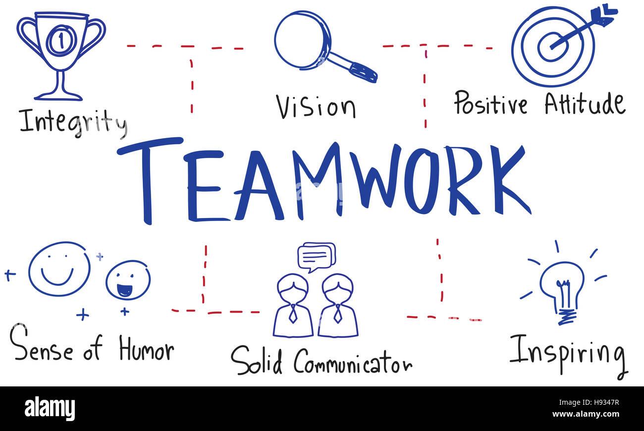 leadership success skills drawing graphic concept stock photo