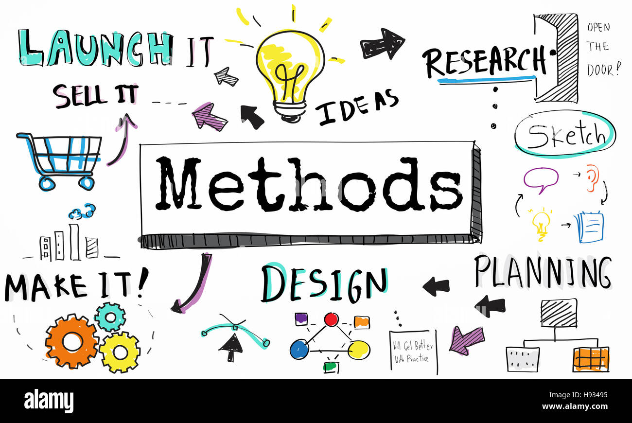 Method Strategy Business Workflow Progress Concept - Stock Image