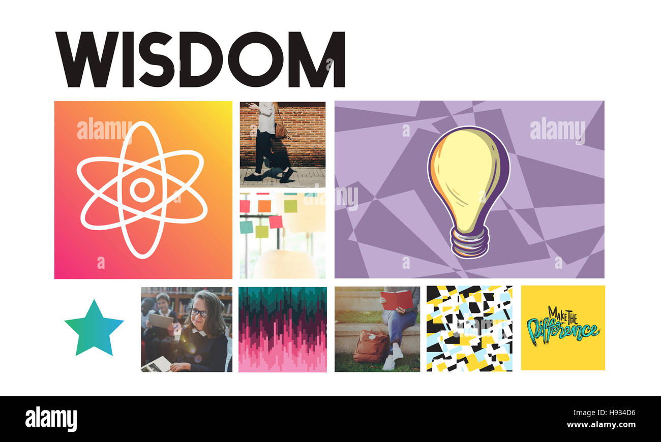 Acedemic Knowledge Learning Literacy Graphic Concept - Stock Image