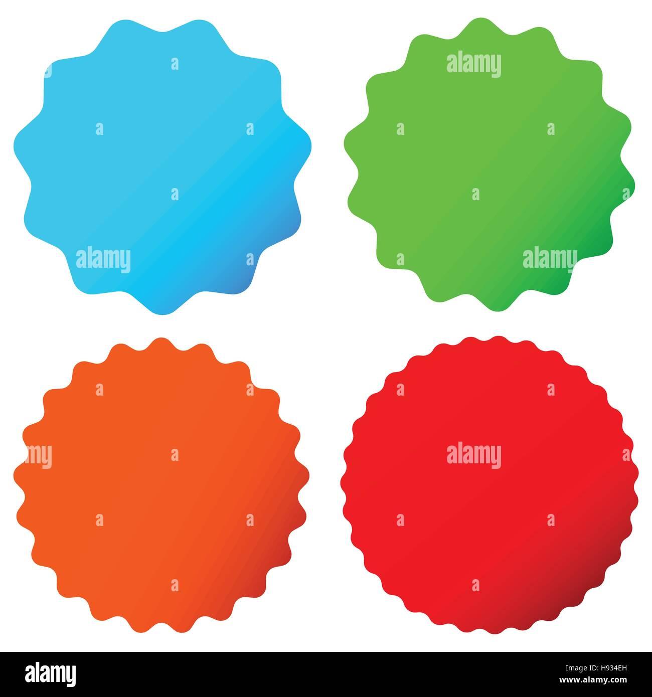 different starburst sunburst badges shapes in 4 color stock rh alamy com starburst vector free starburst vector free