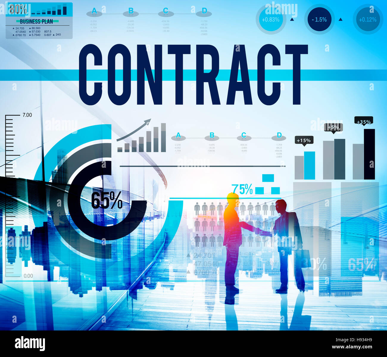 Contract Agreement Deal Bargain Partnership Concept - Stock Image