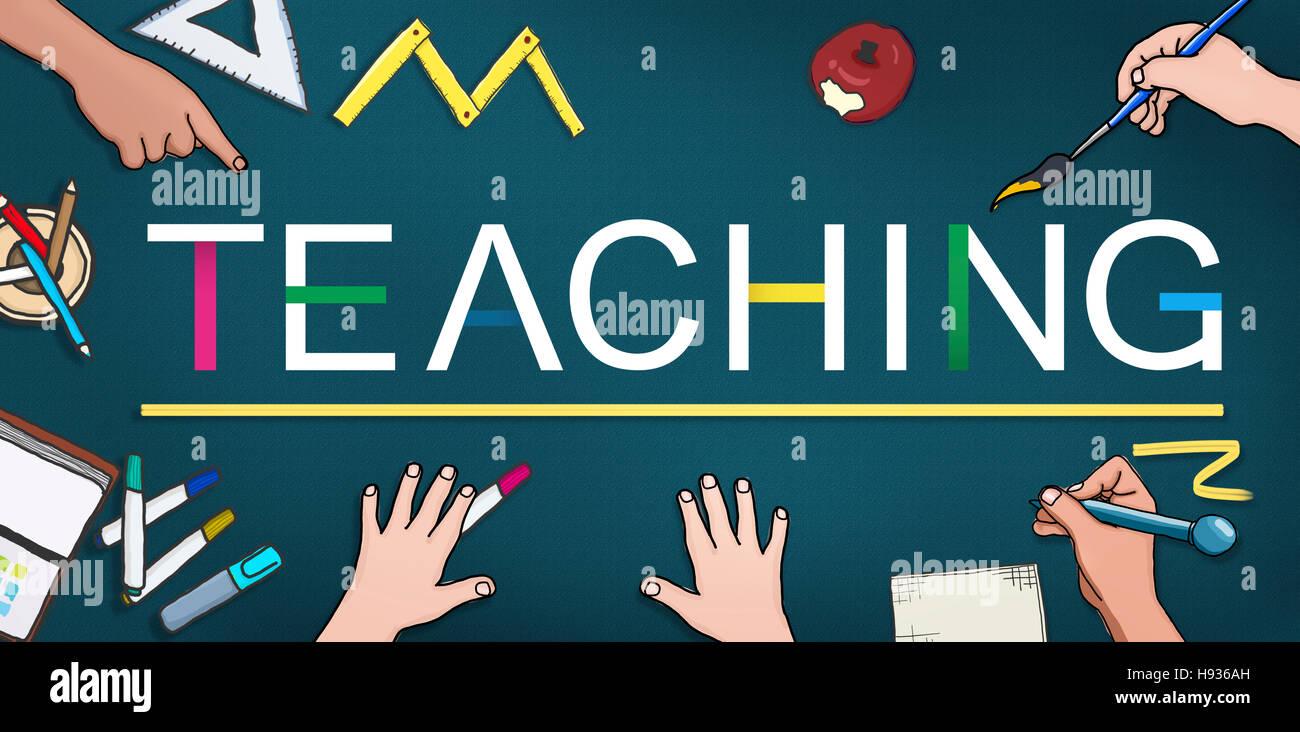 Teaching Teach Teacher Training Development Concept - Stock Image