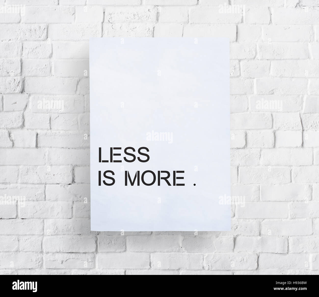 Less is More Minimal Simplicity Easiness Plainness Concept - Stock Image