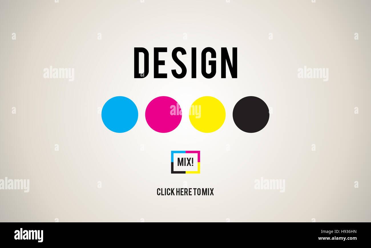 CMYK Ink Design Graphics Creativity Concept - Stock Image