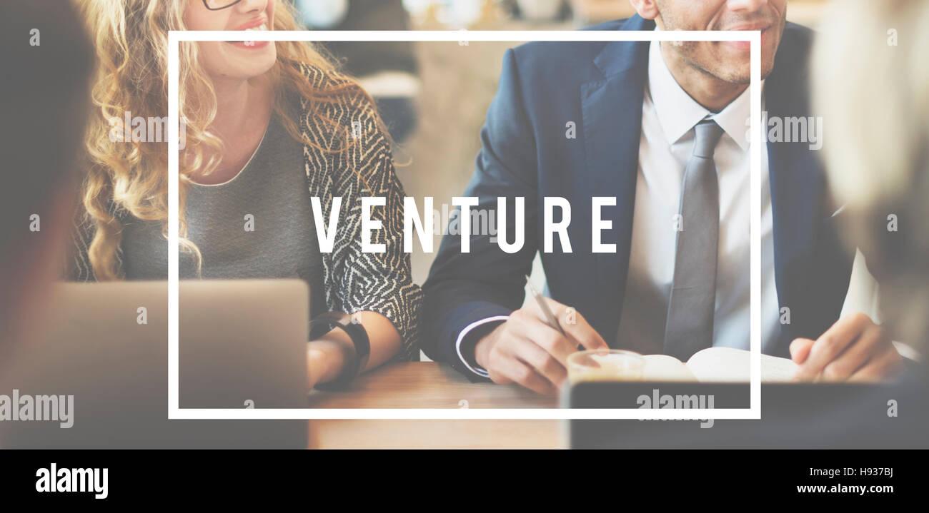 Venture Entrepreneur Funding Investing Money Concept - Stock Image