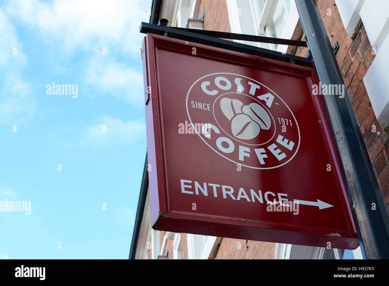 Costa Coffee Sign, Nantwich - Stock Image