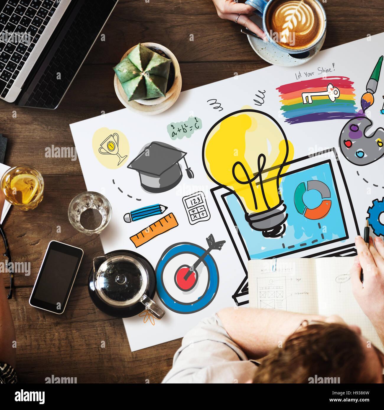 Inspiration Aspiration Sources Data Idea Ideas Concept - Stock Image