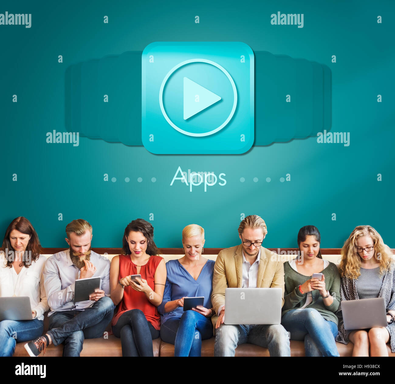 Applications Apps Multimedia Invention Devices Concept - Stock Image