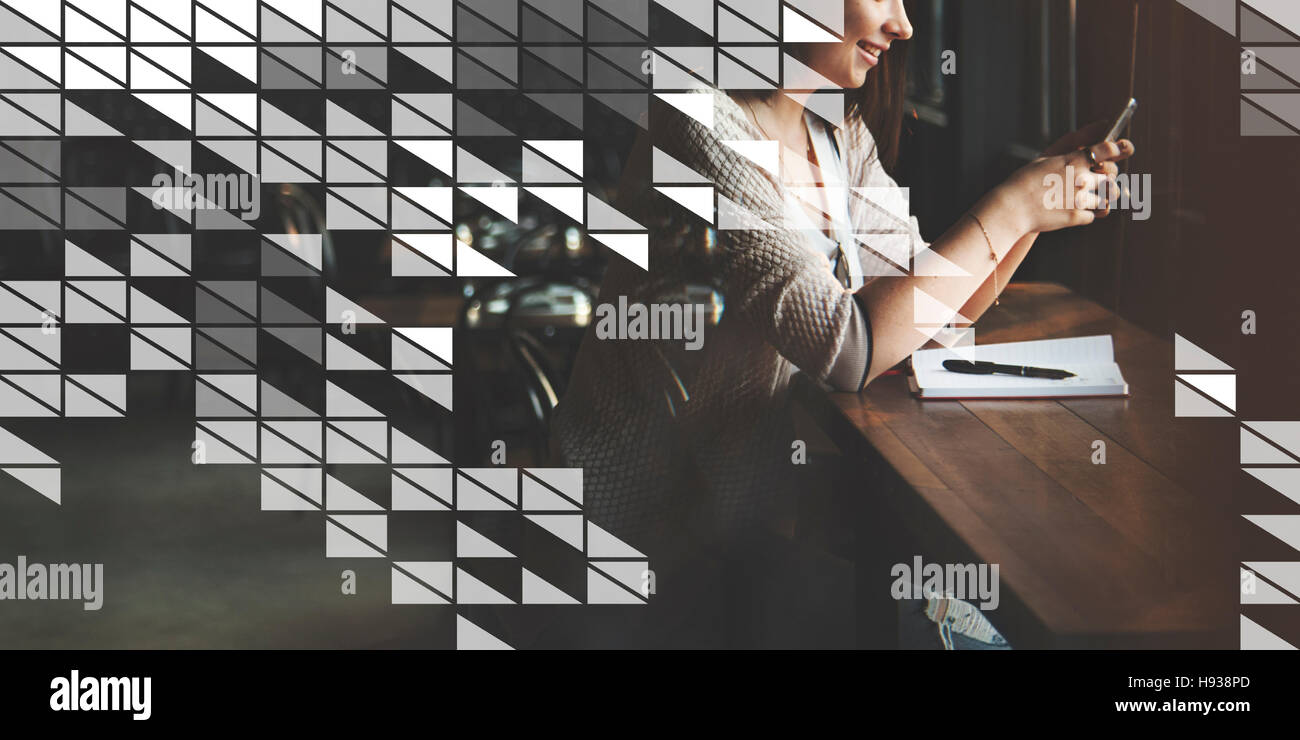 Graphic Art Abstract Design Artistic Illustration Concept - Stock Image