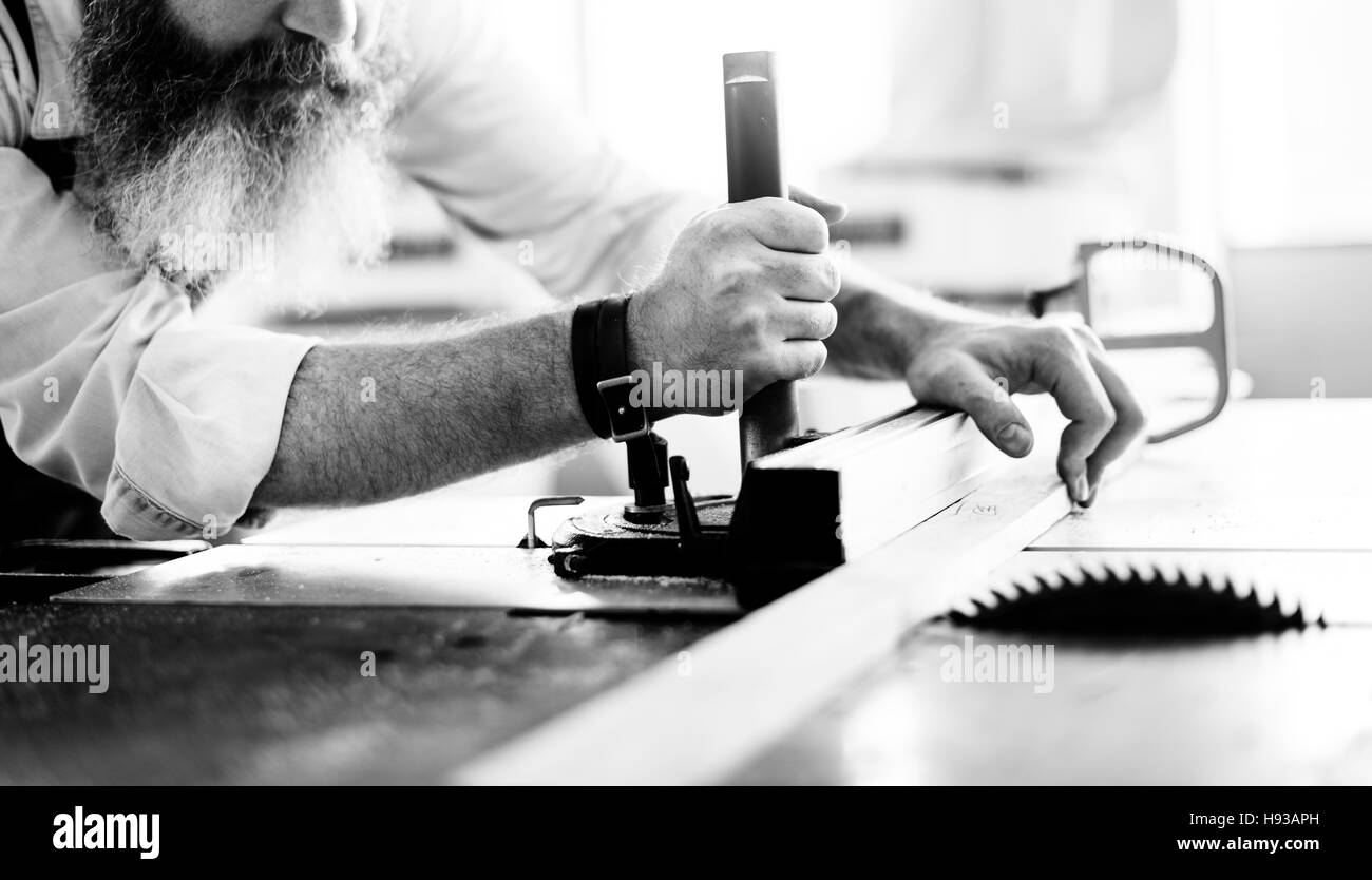 Handyman Occupation Craftsmanship Carpentry Concept - Stock Image