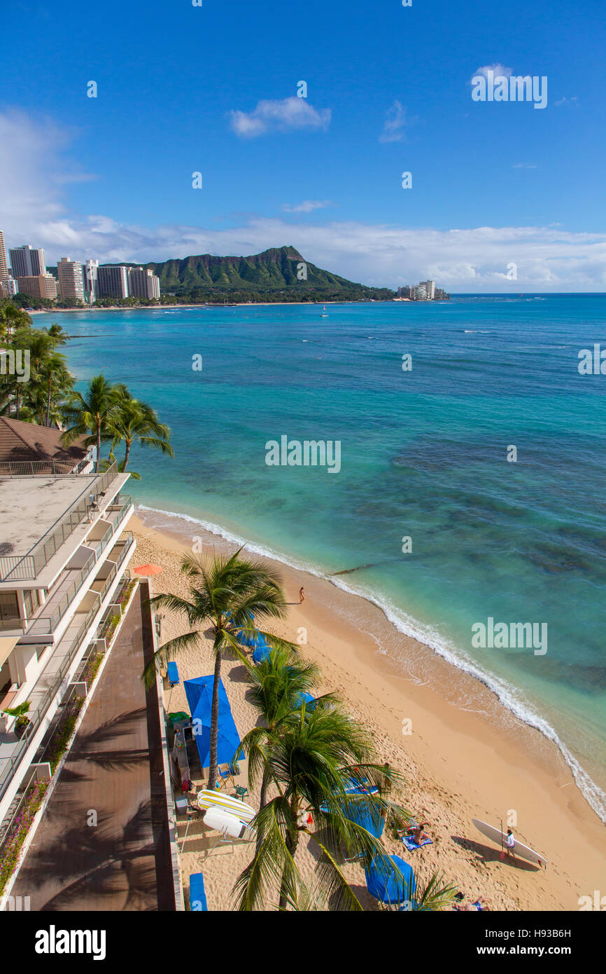 Waikiki Beach, Oahu, Hawaii - Stock Image
