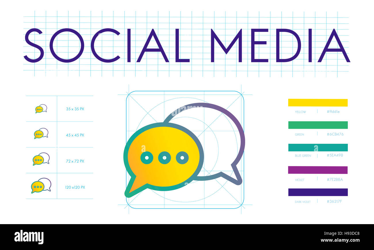 Social Media Trends Interact Connection Concept - Stock Image
