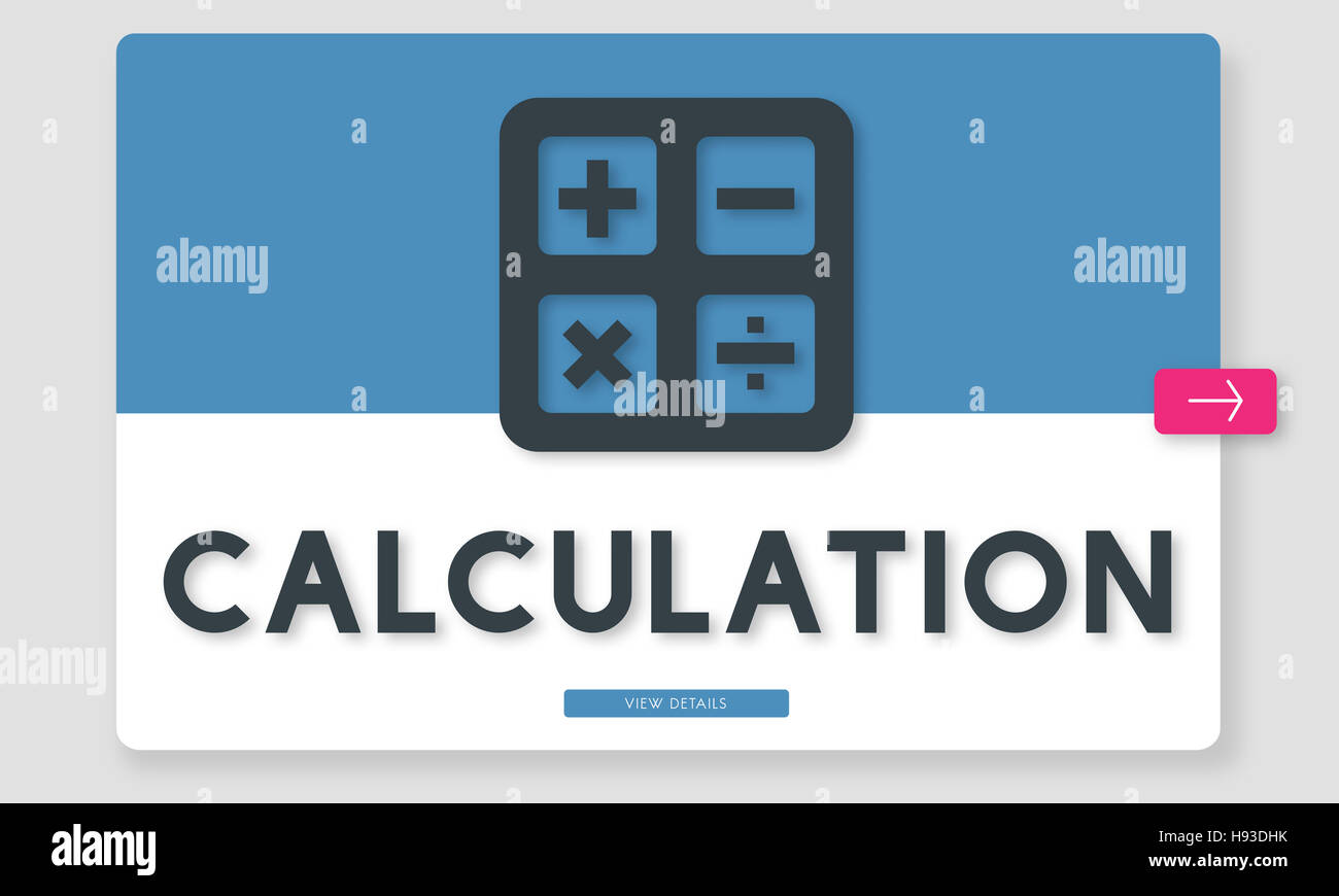 Calculation Accounting Finance Budget Concept - Stock Image