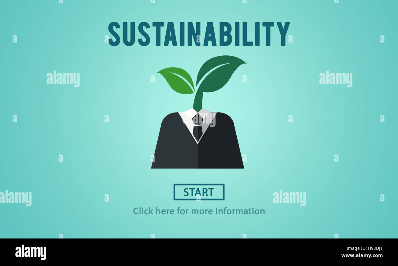 Sustainability Ecology Environmental Conservation Sustainable Concept - Stock Image