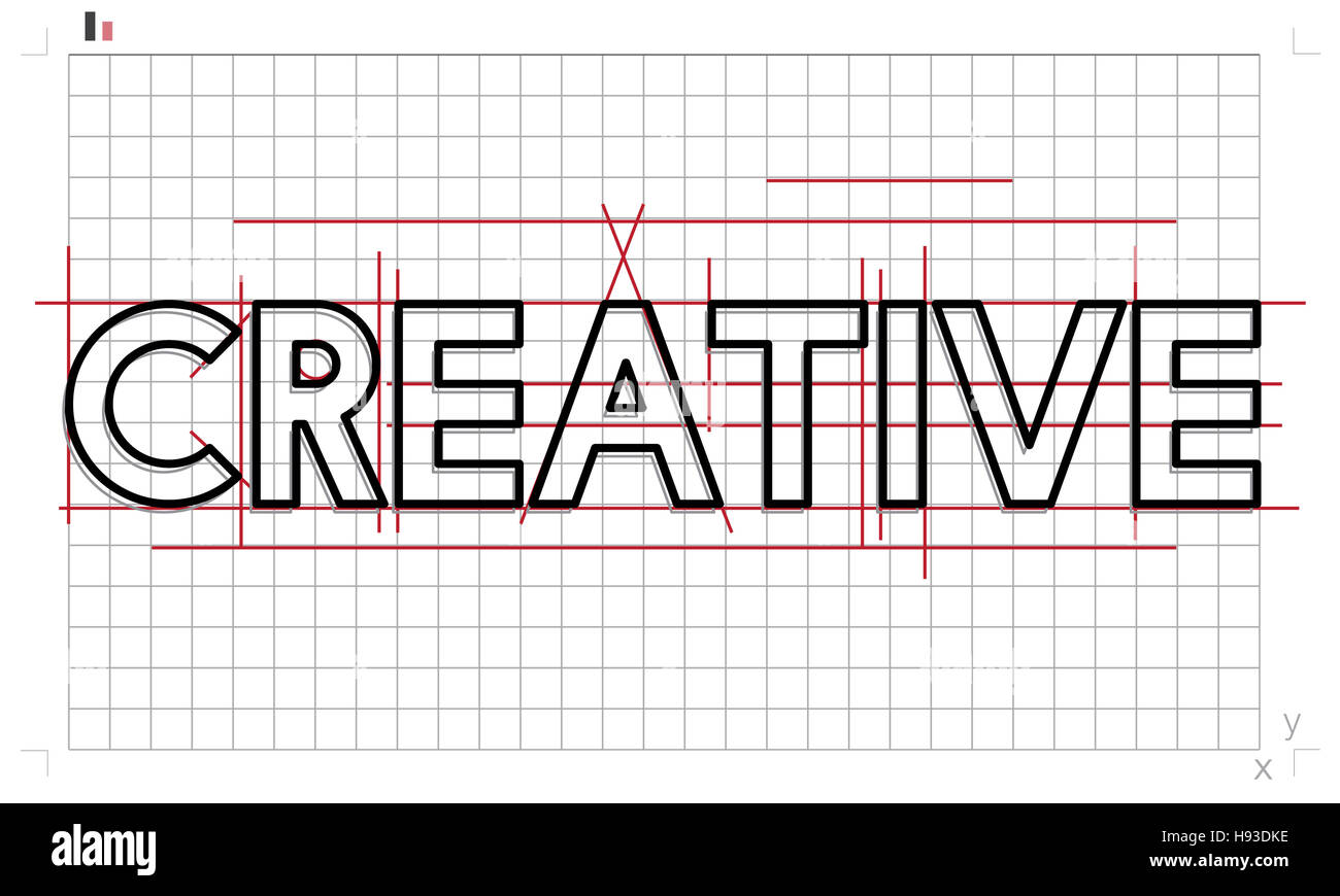 Creative Ideas Design Draft Graphic Concept - Stock Image