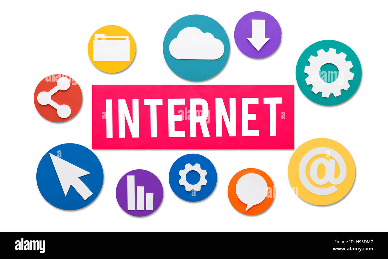 Internet Online Digital Technology Connection Concept - Stock Image