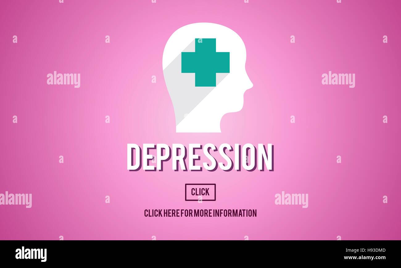 Depression Downturn Decline Recession Sadness Concept - Stock Image