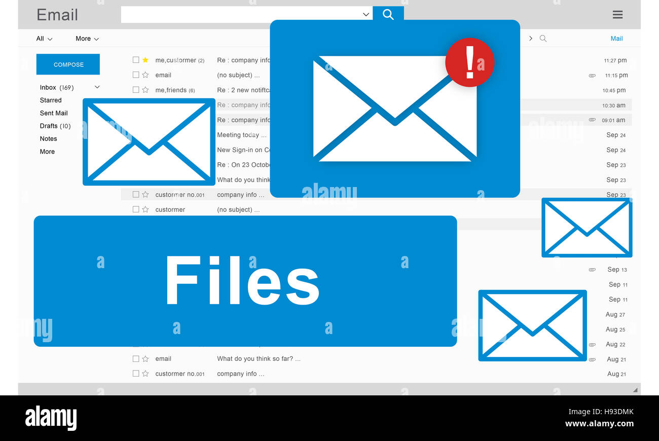 Files Attachment Email Online Graphics Concept - Stock Image
