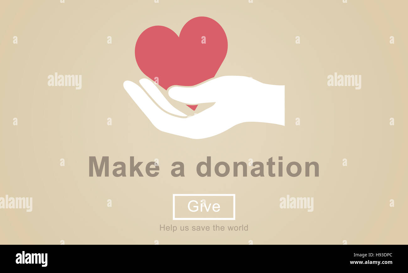 Make a Donation Charity Donate Contribute Give Concept - Stock Image