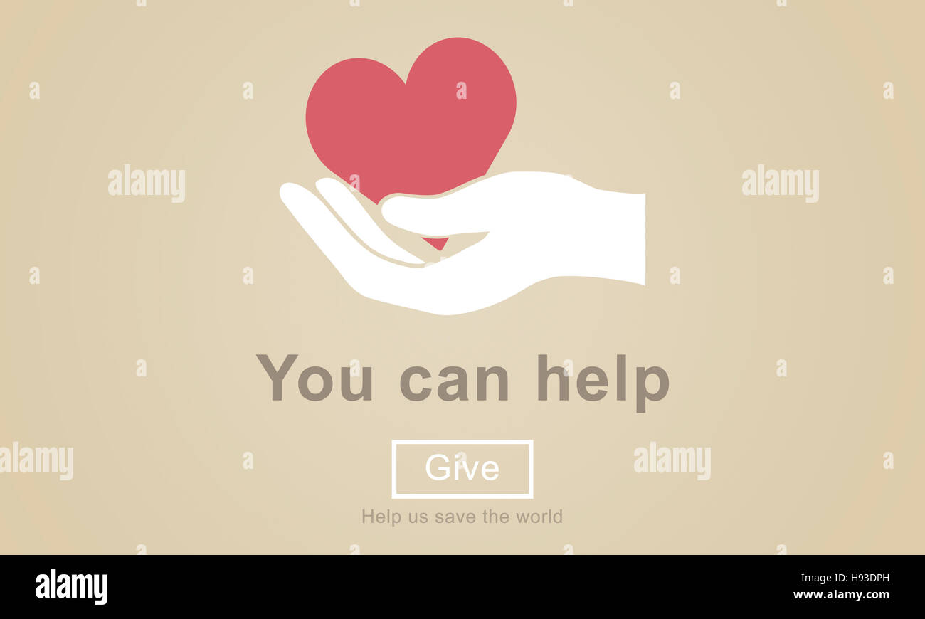 You Can Help Give Welfare Donate Concept - Stock Image
