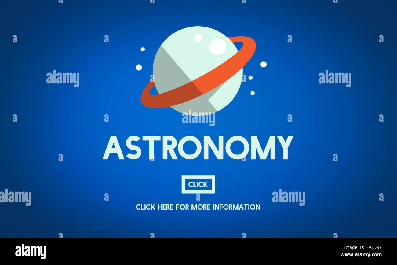 Astronomy Big Bang Planet Spaceship Concept - Stock Image