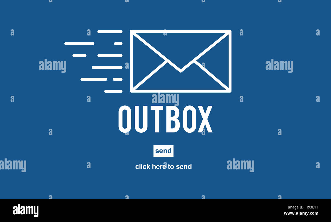 Outbox Inbox Email Connection Global Communications Concept - Stock Image