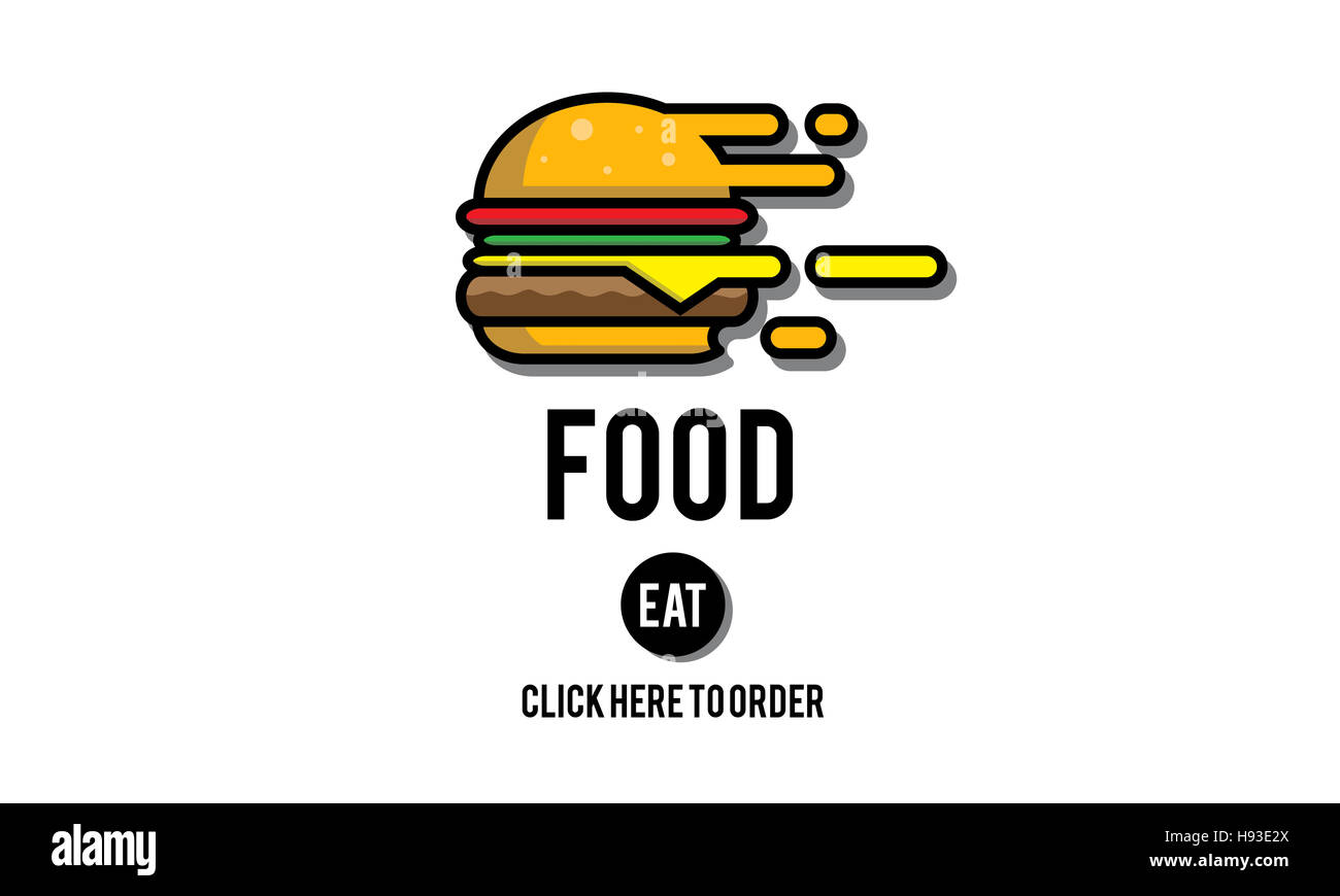 Food Burger Dining Eating Nourishment Concept - Stock Image