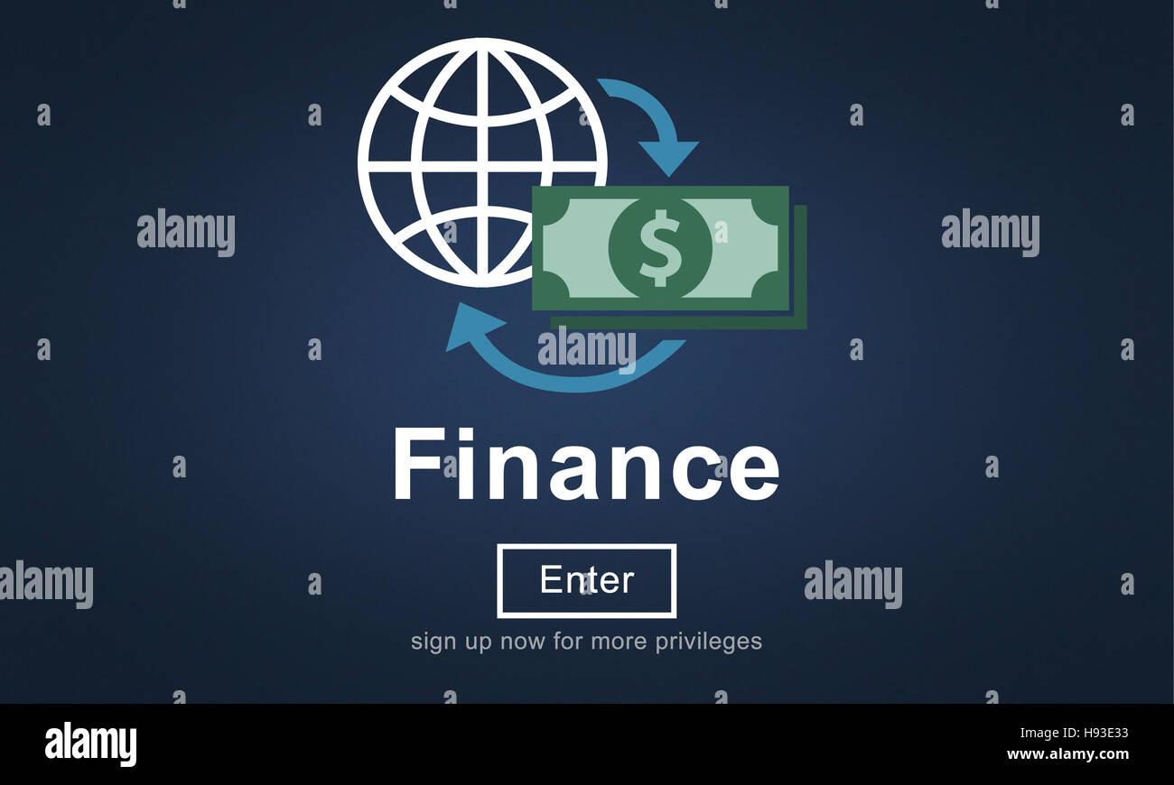 Finance Financial Money Cash Economics Concept - Stock Image