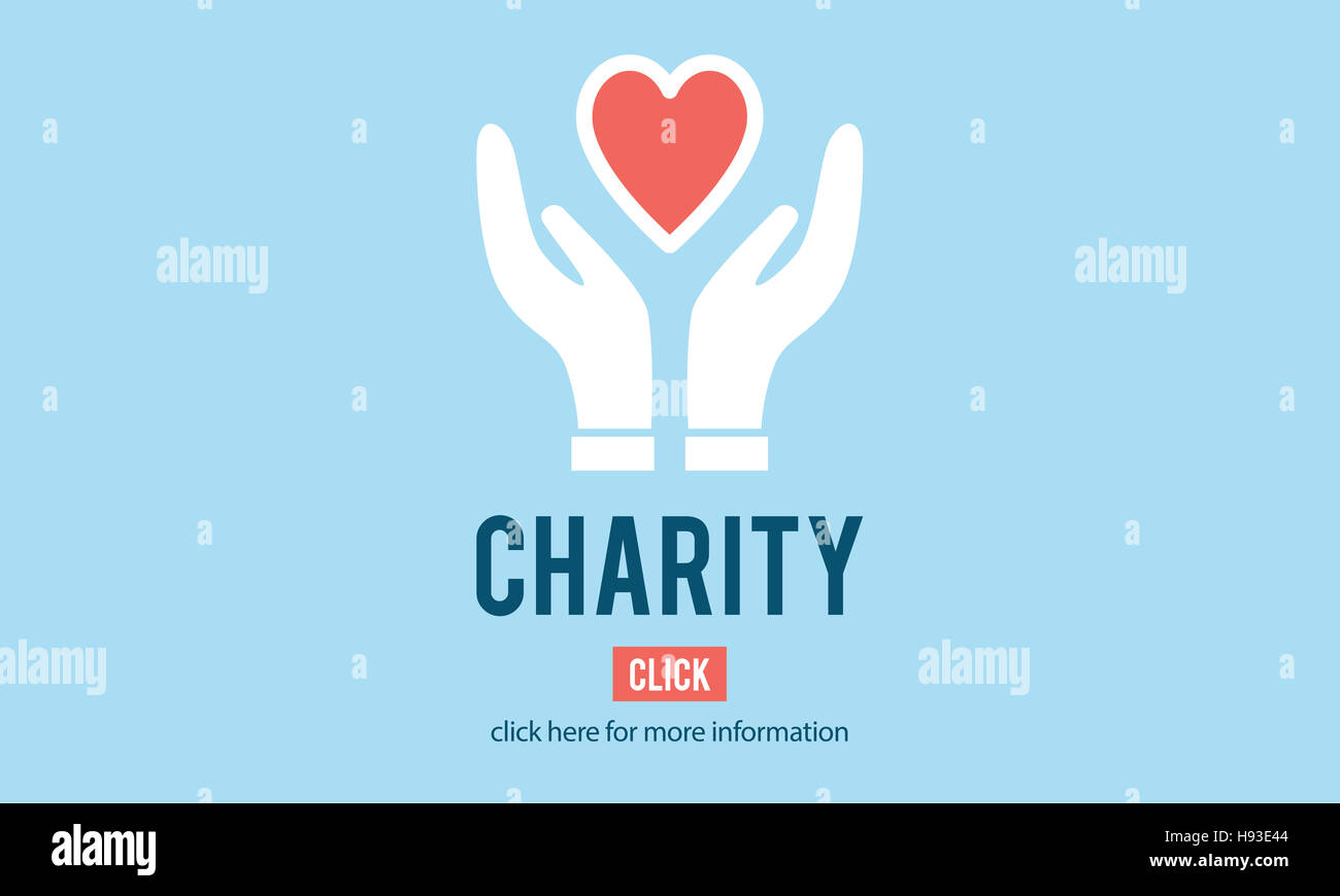 Charity Donation Help Support Charitable Assistance Concept - Stock Image