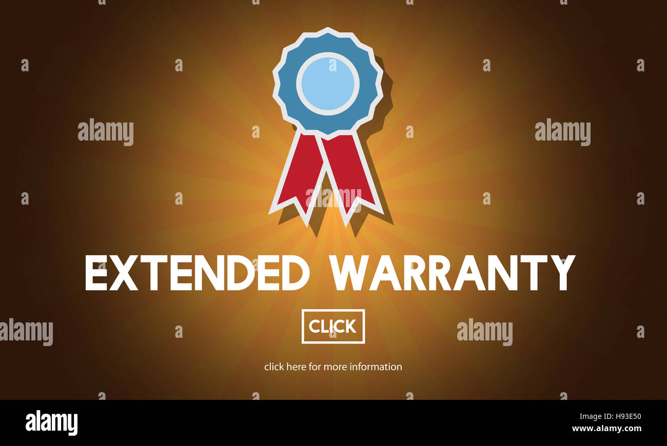 Extended Warranty Guaranteed Quality Safety Service Concept - Stock Image