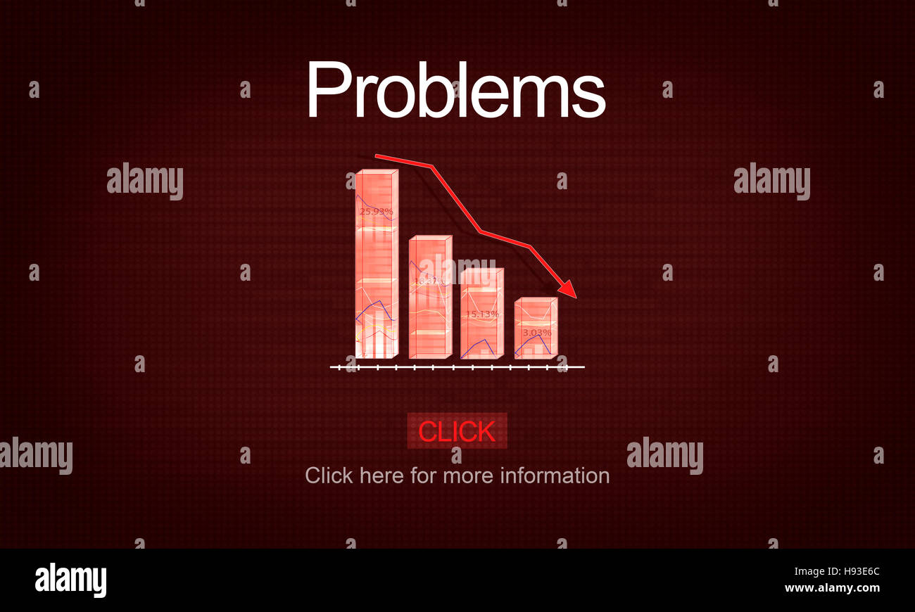 Problems Difficulty Failure Mistake Negative Concept - Stock Image
