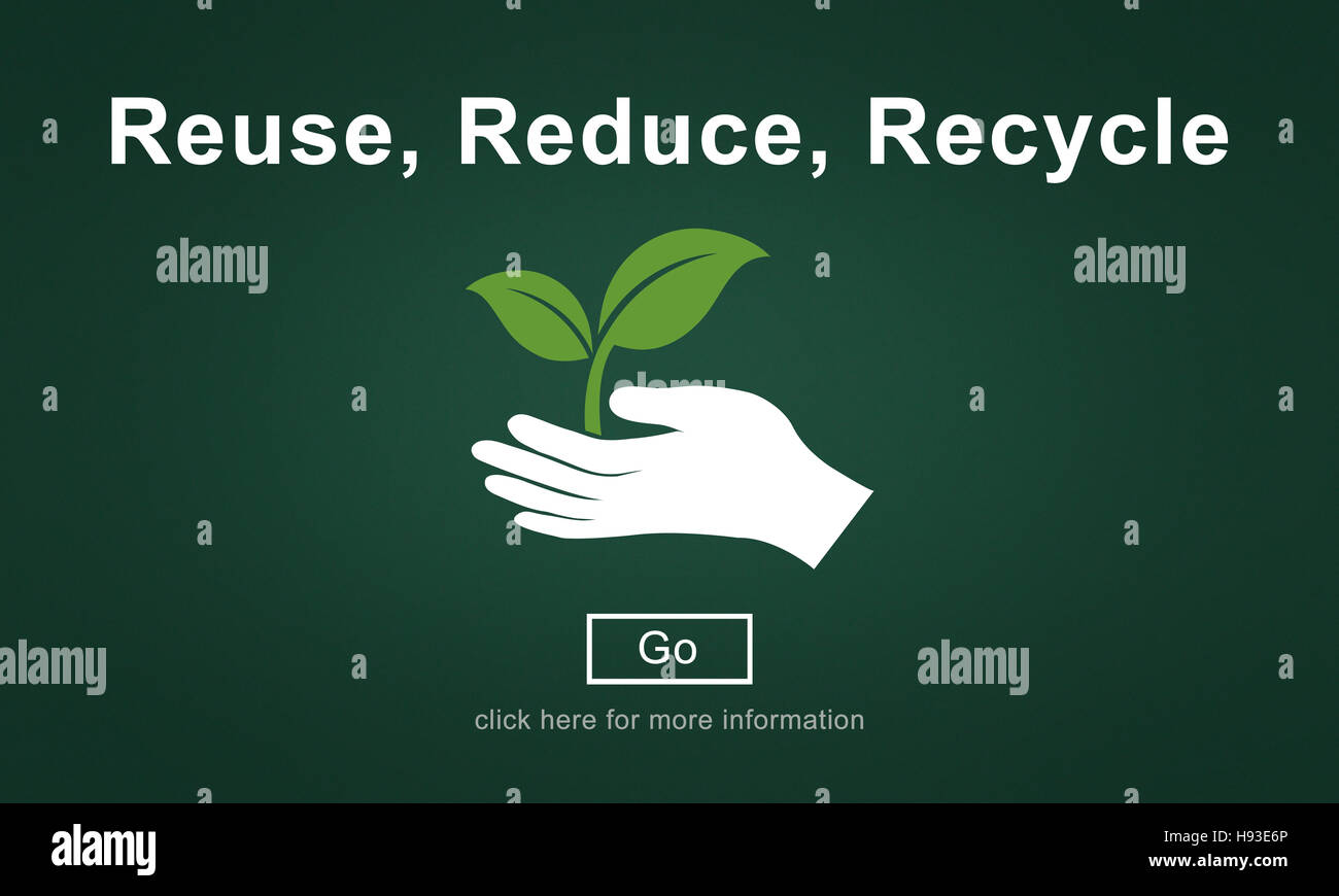Reuse Reduce Recycle Sustainability Ecology Concept - Stock Image