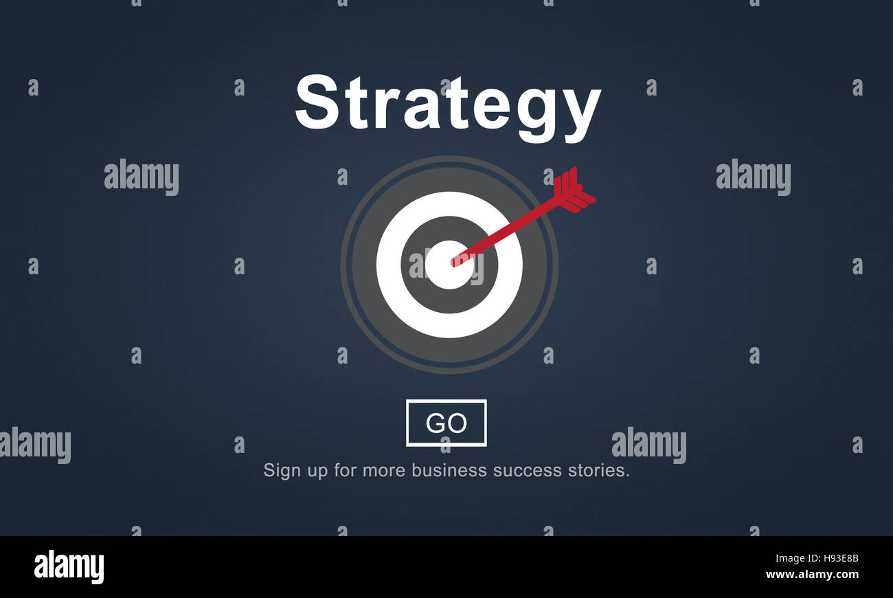 Strategy Analysis Mission Goals Strategic Concept - Stock Image