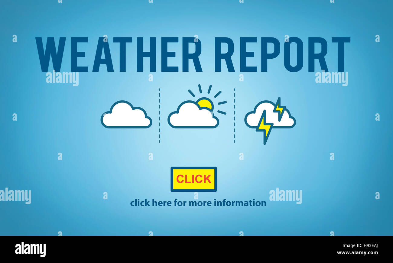 Weather Report Prediction Forecast News Information Concept Stock Photo Alamy