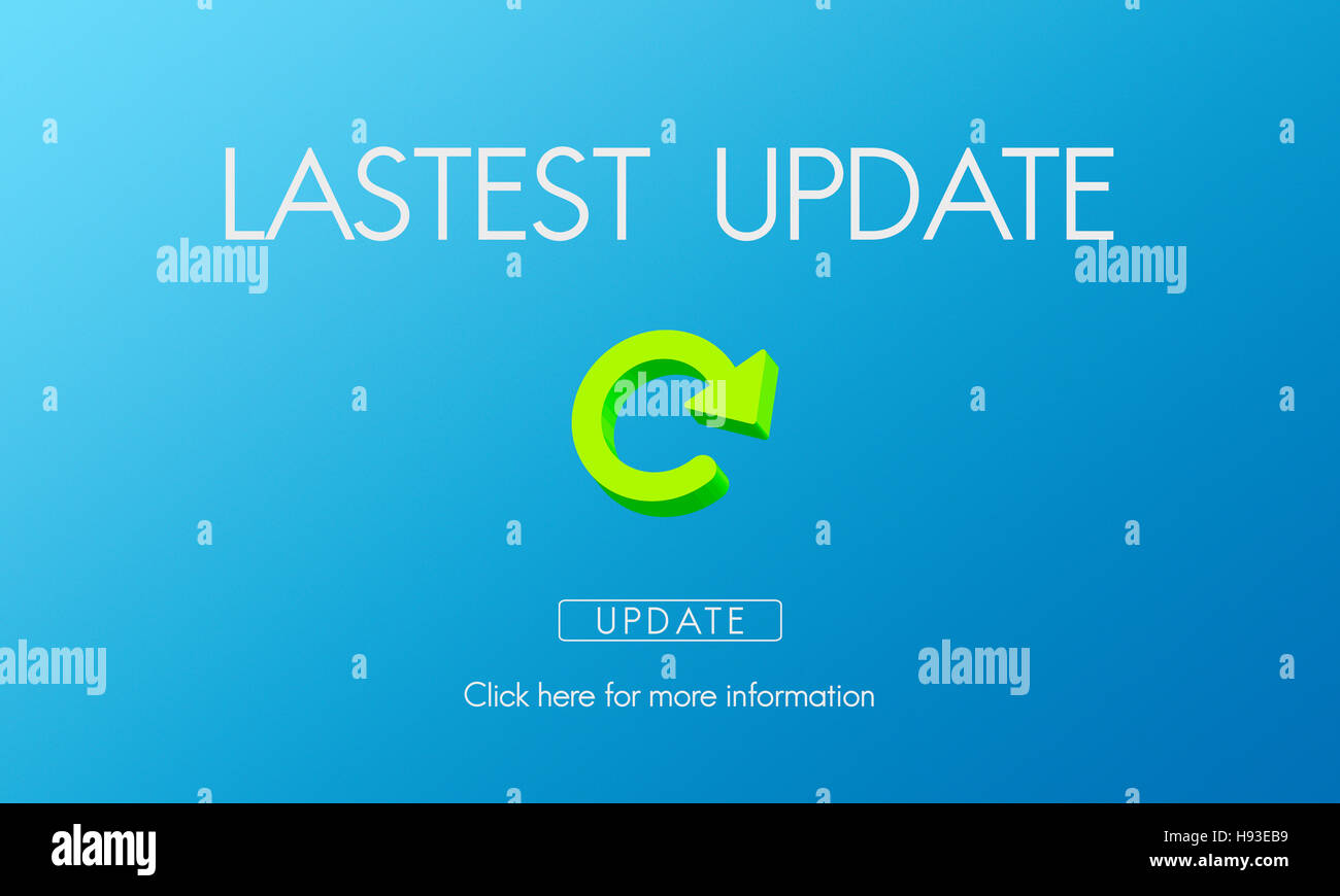 Lastest Version Fresh Updates Application Updates Concept - Stock Image