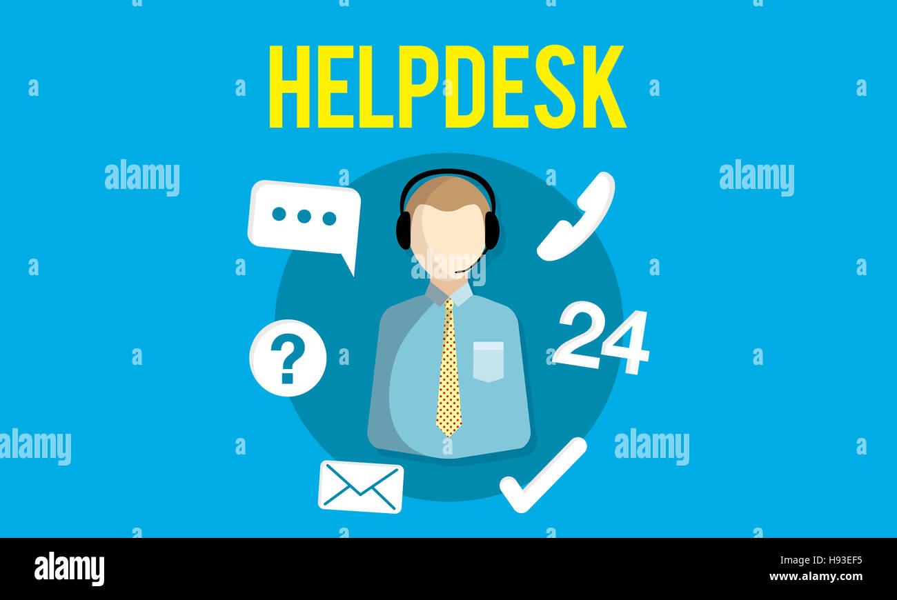 Helpdesk Customer Support Communication Enquiry Concept - Stock Image