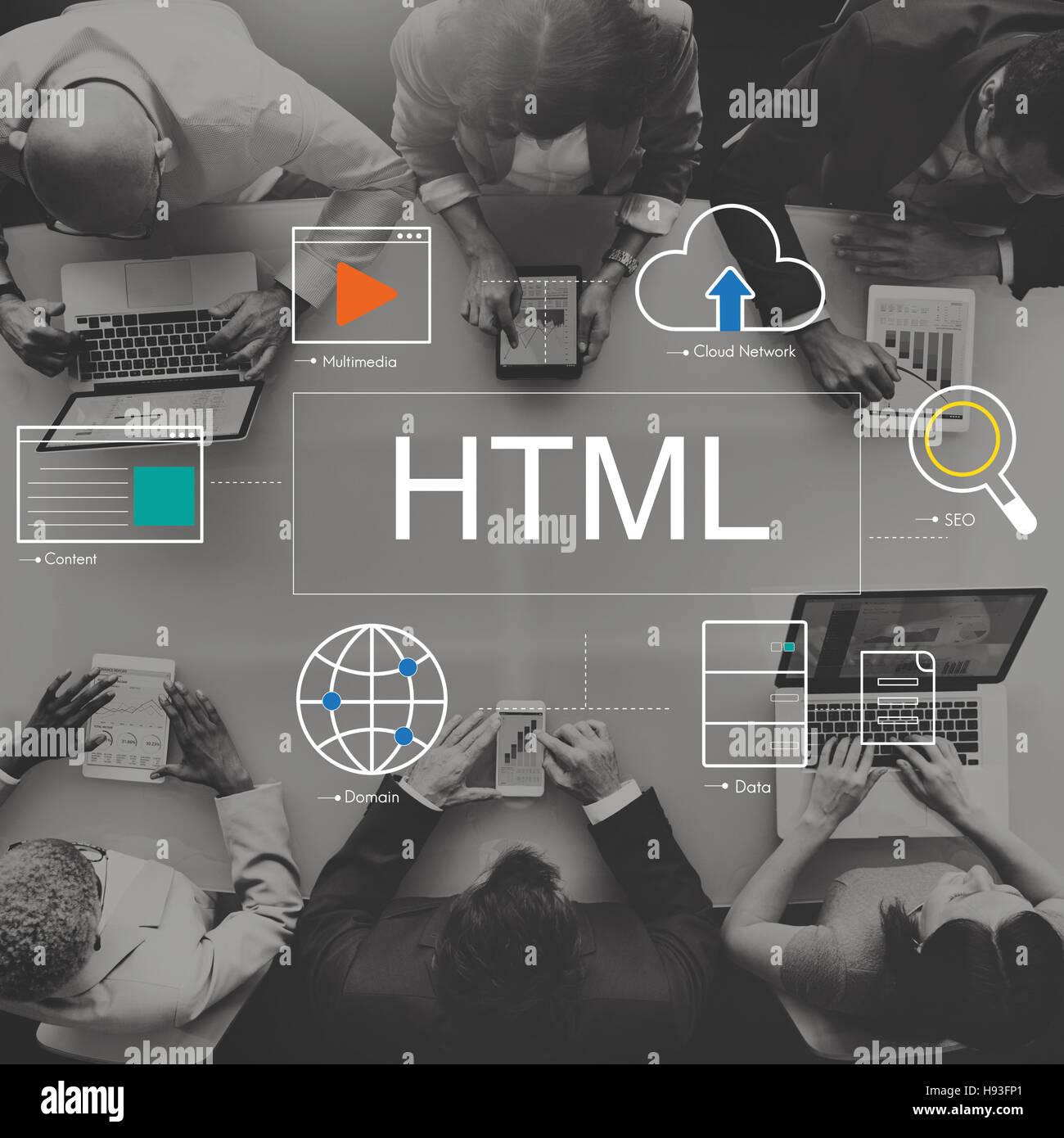 Big Data Domain Web Page SEO Concept - Stock Image