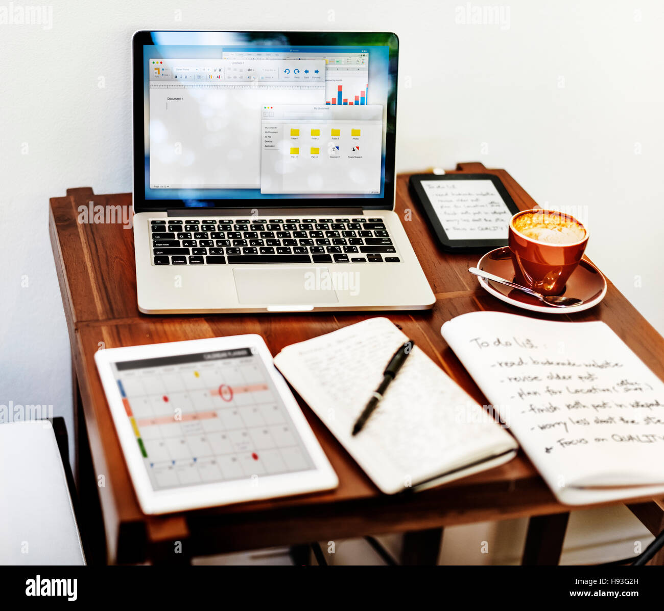 Home Office Workspace Place of Work Concept - Stock Image