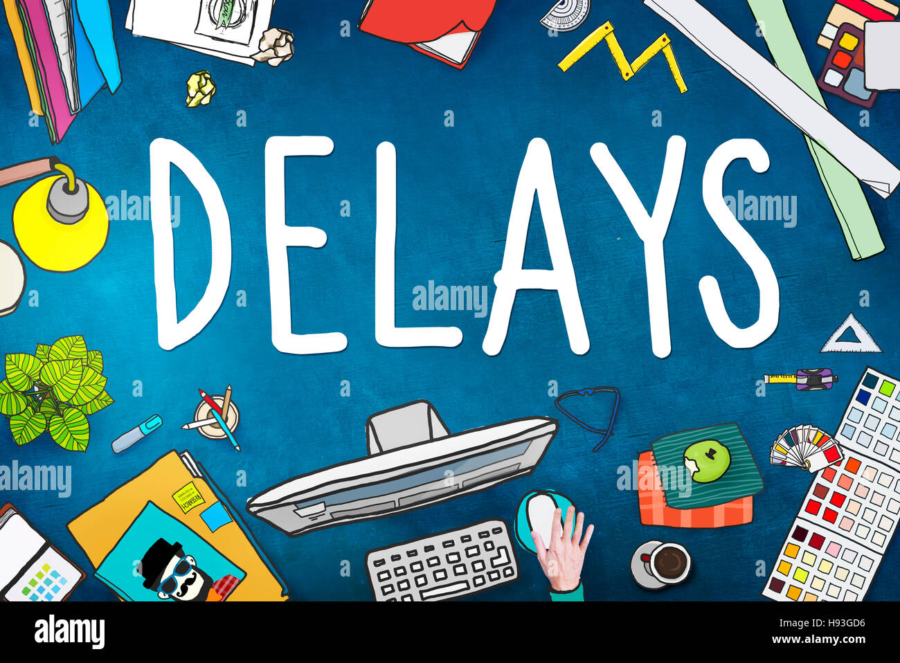 Delays Interruption Late Obstruction Suspend Concept - Stock Image