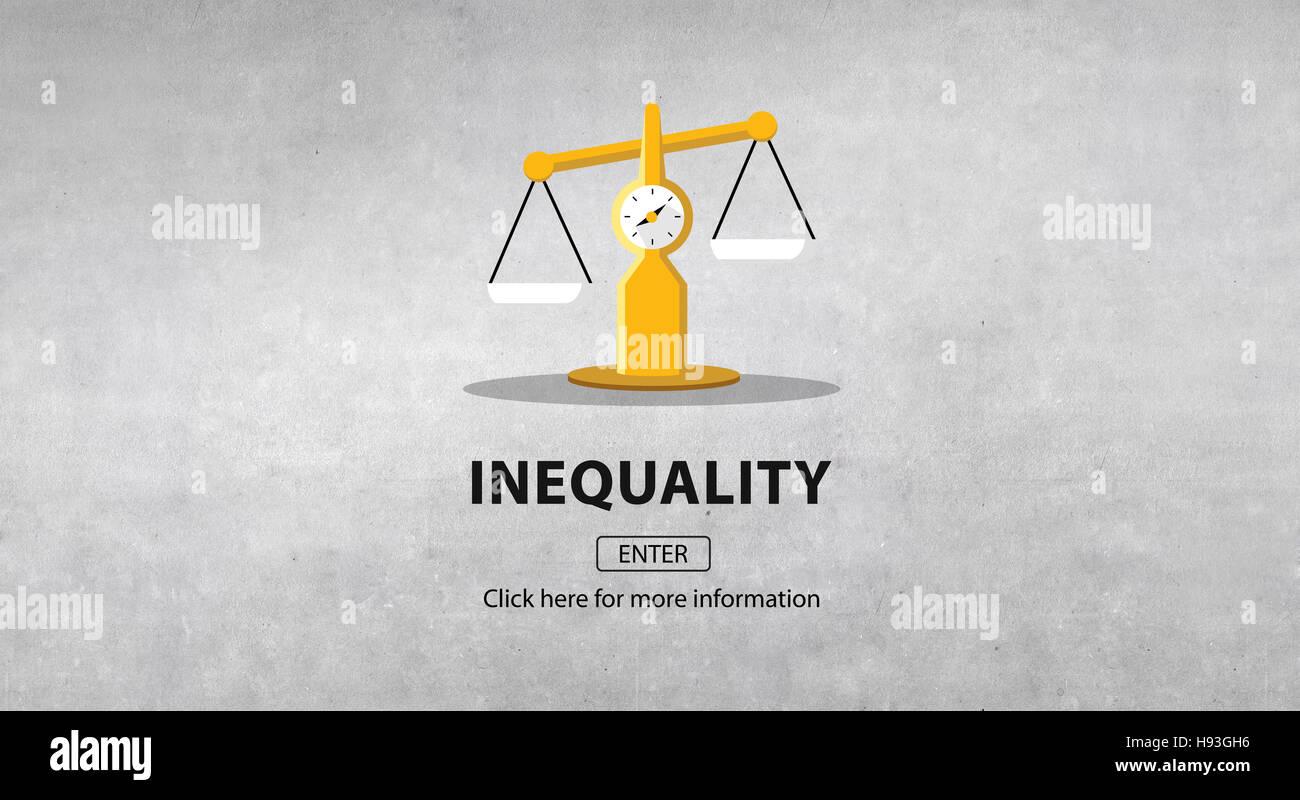 Inequality Difference Diversity Imbalance Racism Concept - Stock Image