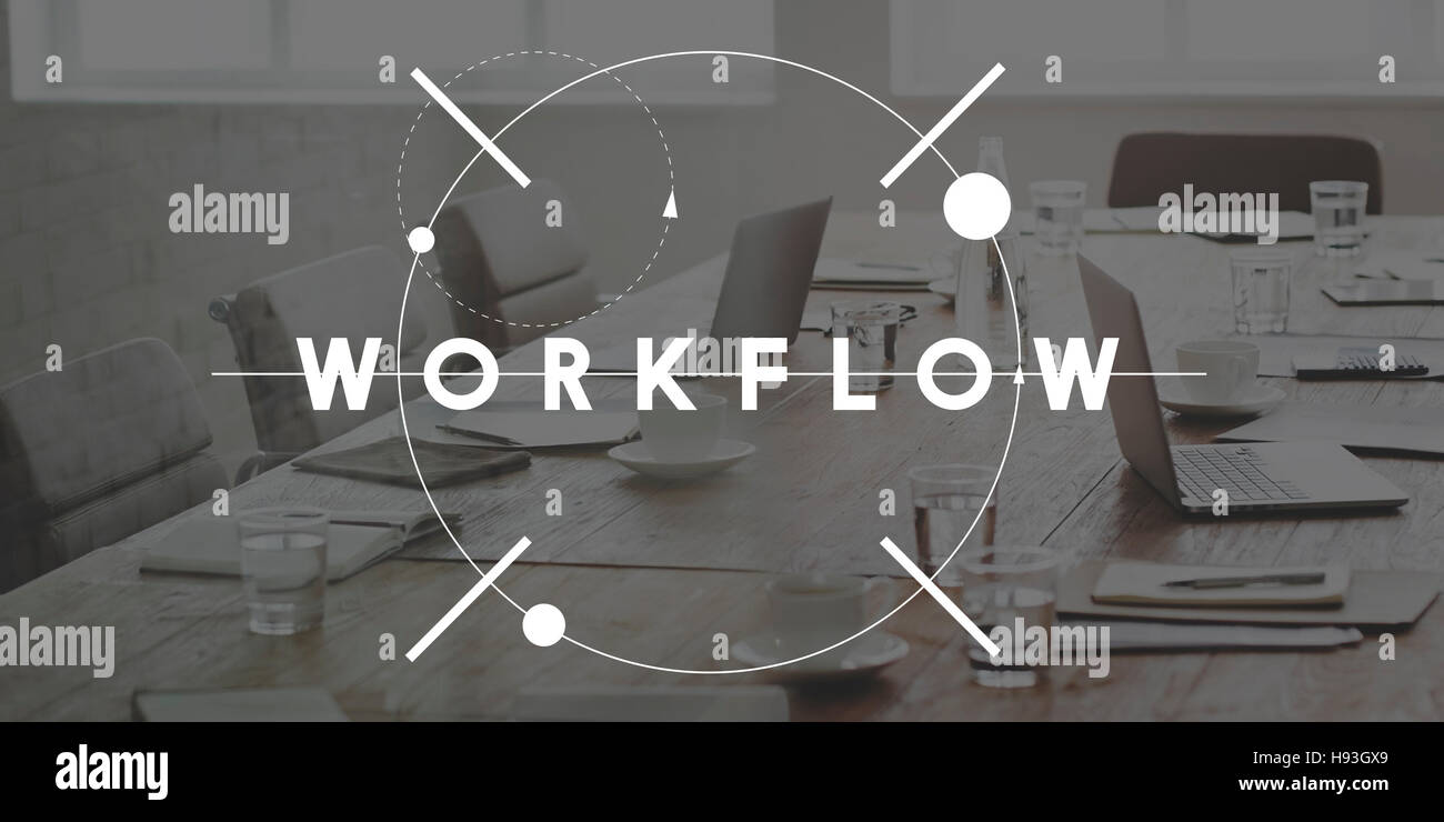 Workflow Effective Efficiency Planning Process Concept - Stock Image
