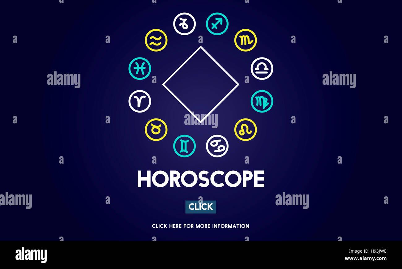 Horoscope Mythology Mystery Belief Astrology Concept - Stock Image