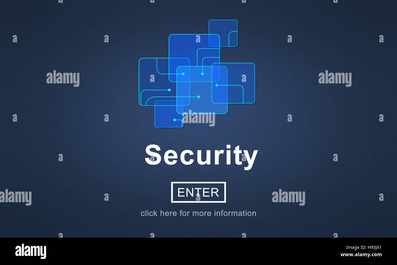 Security Online Website Web Page Internet Concept - Stock Image