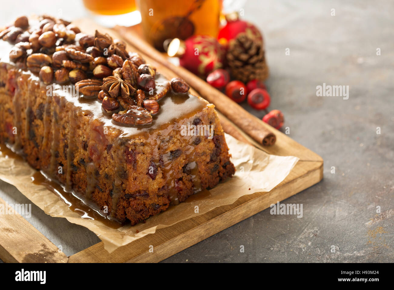 Traditional English steamed pudding - Stock Image