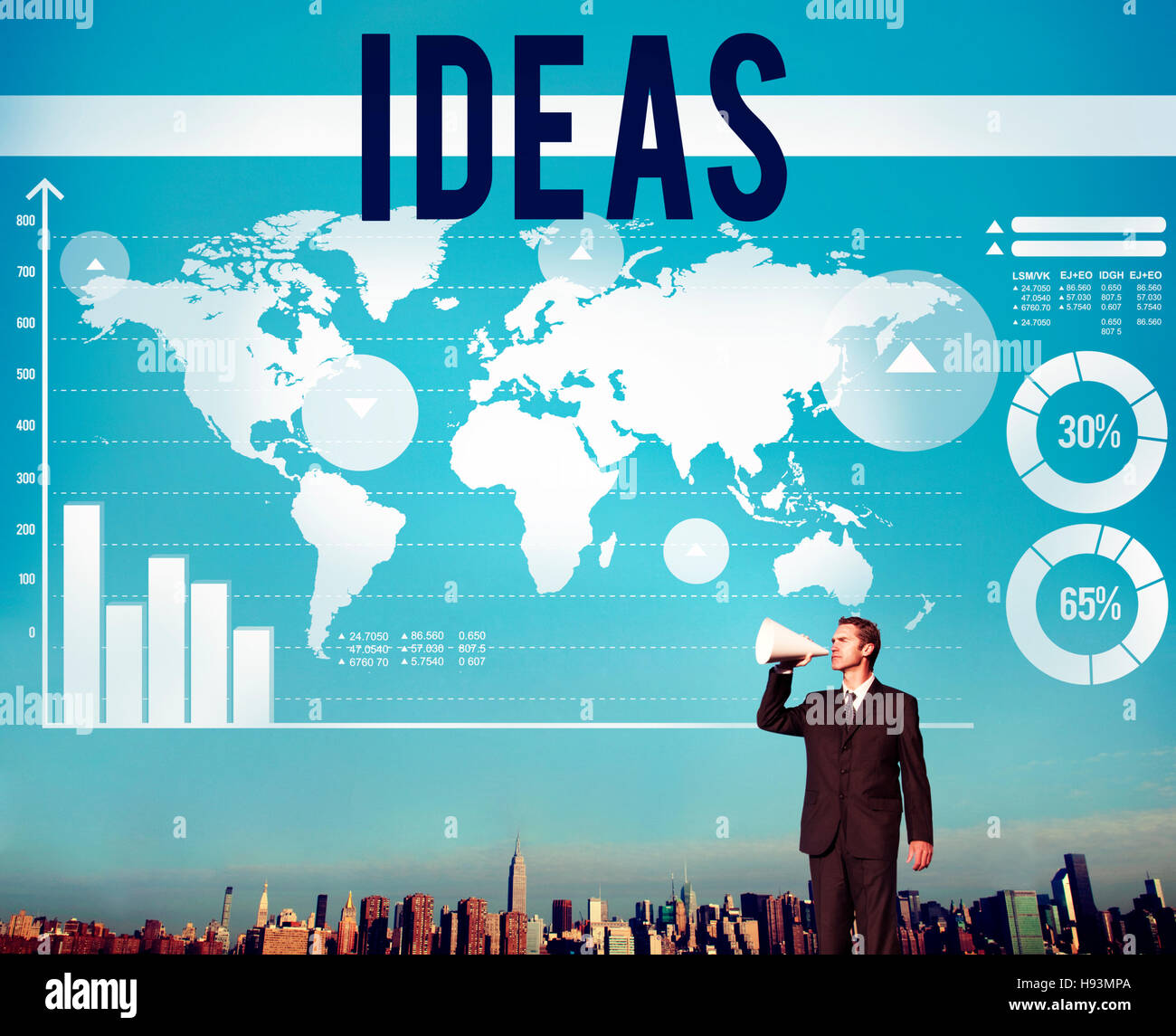 Digital Marketing World Business Megaphone Stock Photos & Digital ...