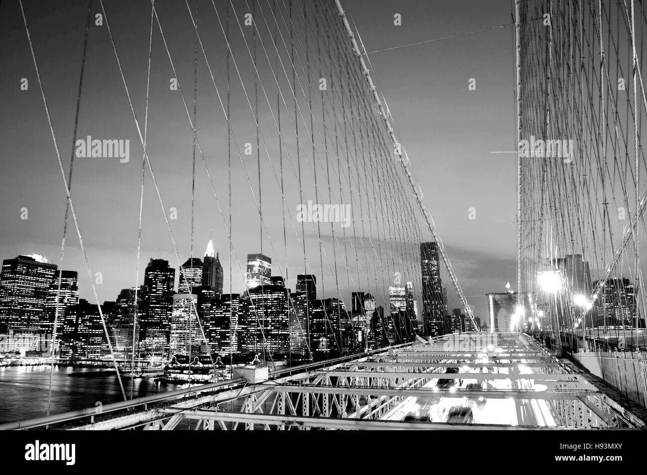 Brooklyn Bridge Wallpaper Black And White Stock Photos Images